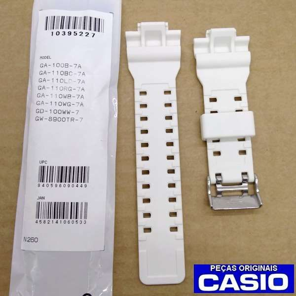 Pulseira Casio G-shock Branco Fosco GA-100B GA-110 GD-100ww GW-8900TR-7 (10395227)  - E-Presentes