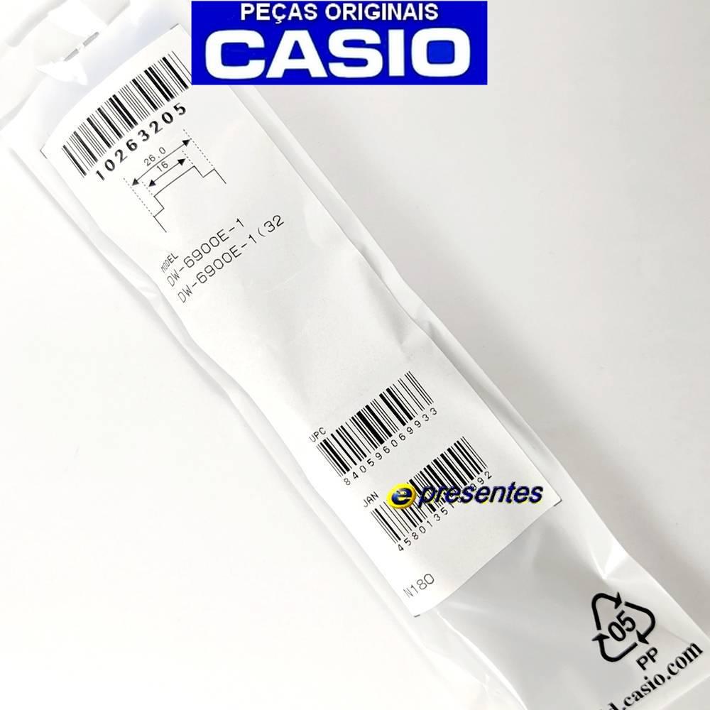 Pulseira Casio G-shock  DW-6900E-1 Preto fosco -  Peça 100% Original  - E-Presentes
