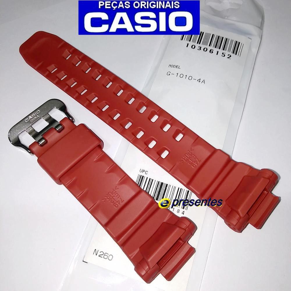 Pulseira Casio G-Shock G-1010-4a Resina Vermelha - 100% Original   - E-Presentes