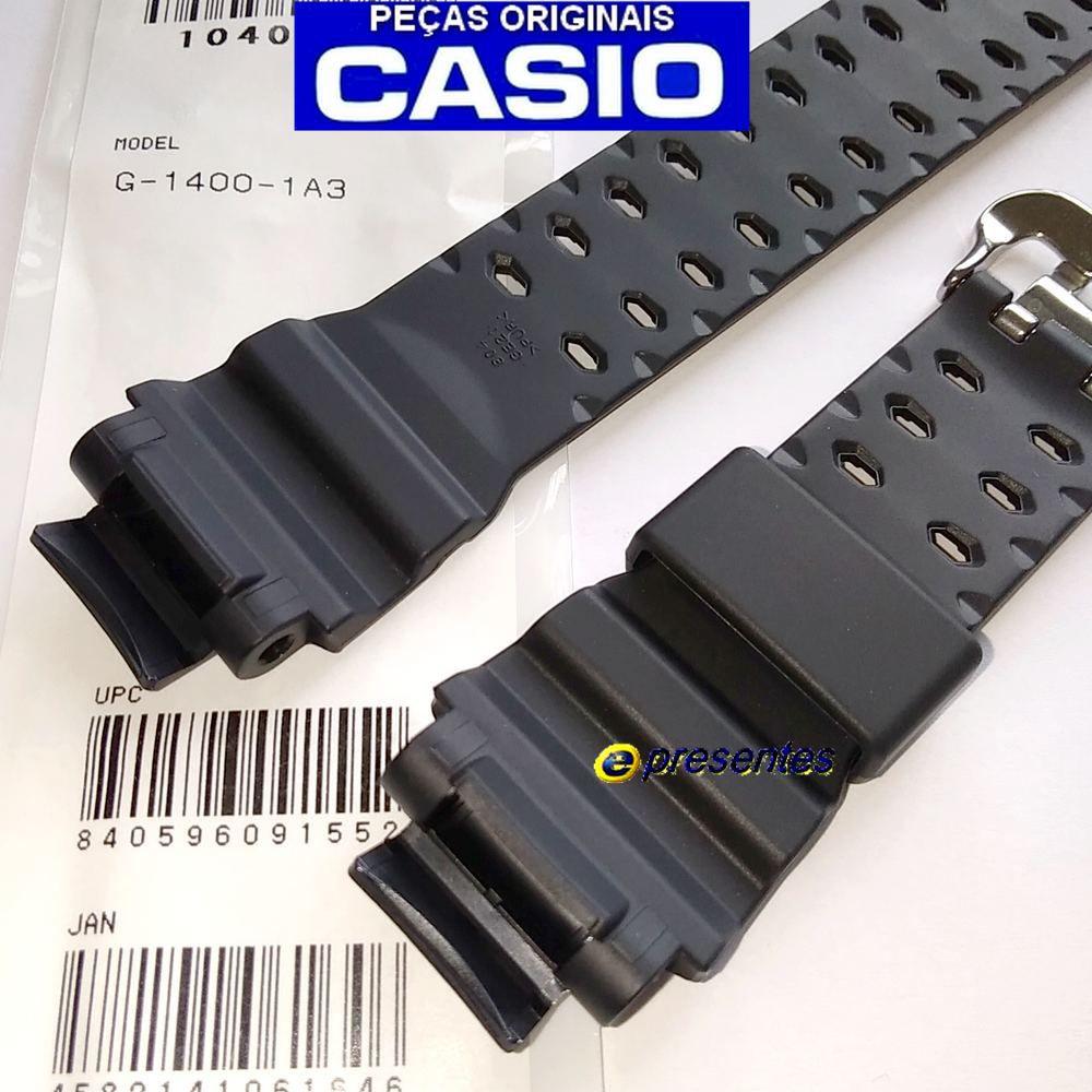 Pulseira Casio G-shock G-1400-1a3 Resina Preta - 100% Original   - E-Presentes