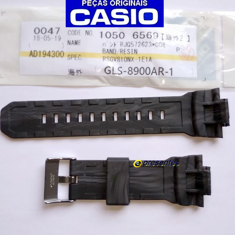 Pulseira Casio G-shock G-Lide GLS-8900AR-1 Preto fosco  - E-Presentes