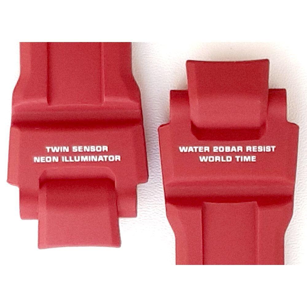 Pulseira Casio G-shock GA-1000-4b Resina Vermelho fosco *   - E-Presentes