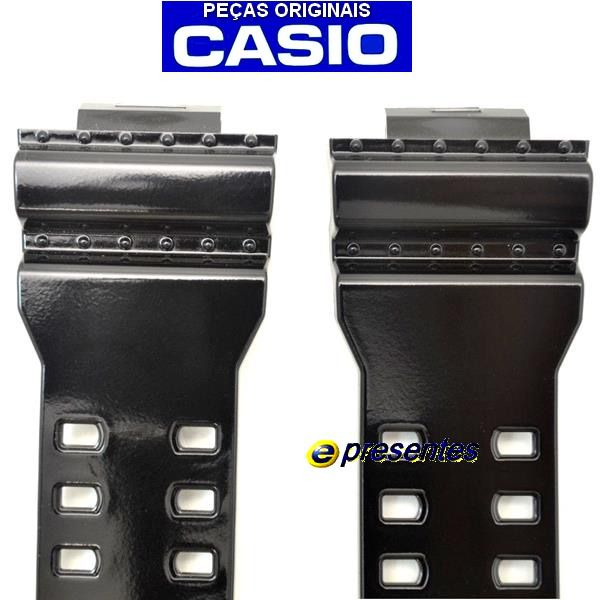 Pulseira Casio G-shock GA-100CS GA-110HC GA-120B GD-100hc GD-100sc Gd-110-1 QW-3400KT Preto Brilhante   - E-Presentes
