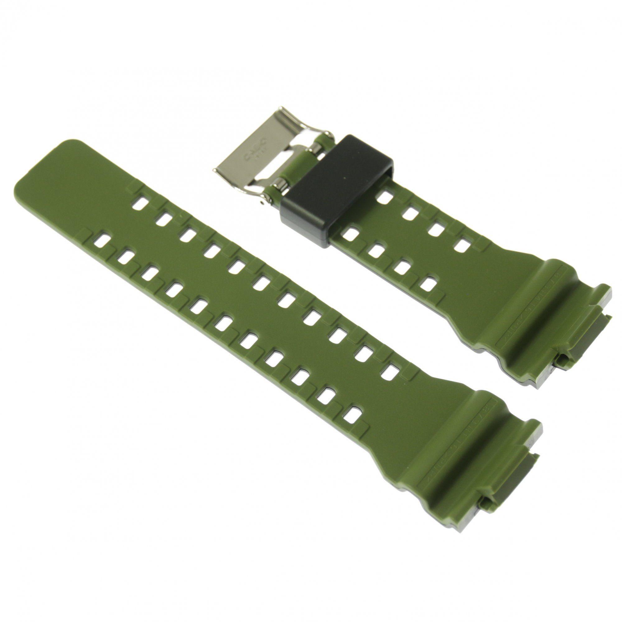 Pulseira Casio G-shock Ga-100L-1A Resina Preto e Verde  - E-Presentes