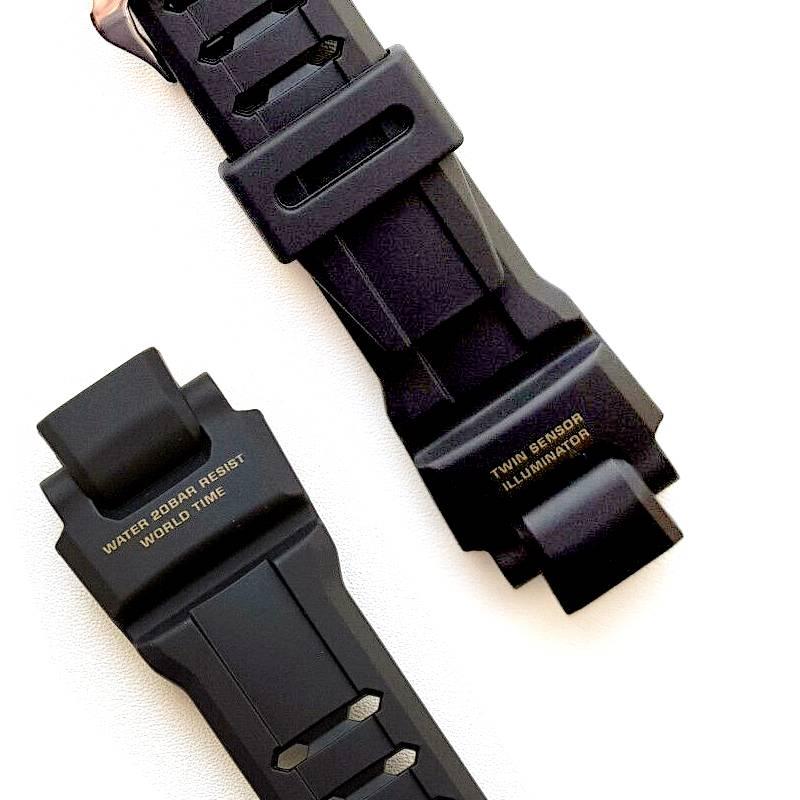 Pulseira Casio G-shock GA-1100GB-1A / GA-1100-9G Resina preta   - E-Presentes