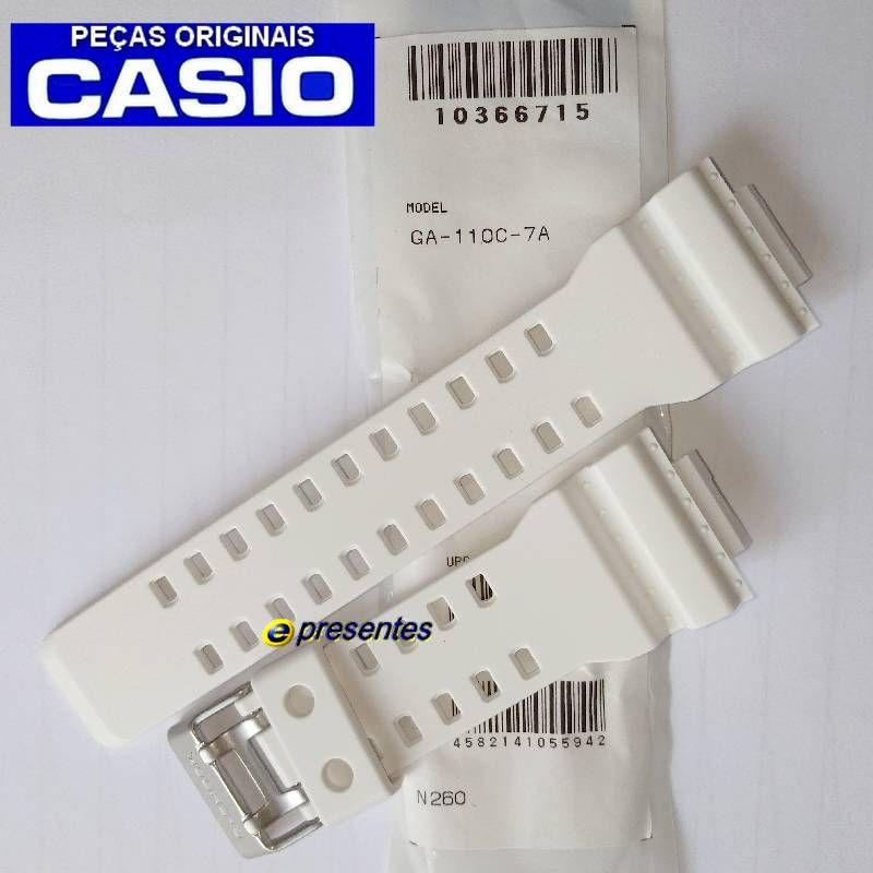 Pulseira Casio G-shock GA-110C-7A Branco Fosco *  - E-Presentes