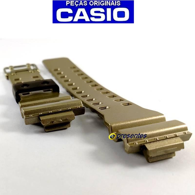 Pulseira Casio G-Shock Ga-110GD-9 Resina Dourada*  - E-Presentes