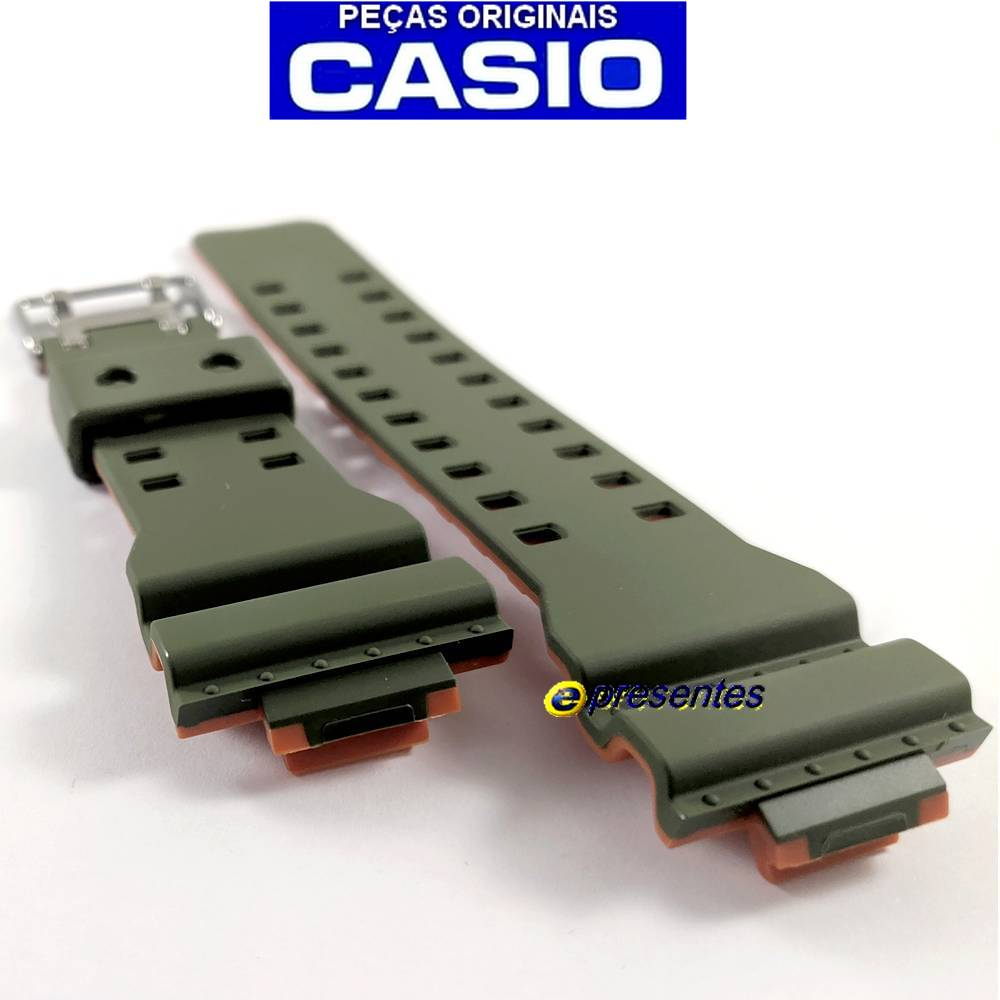 Pulseira Casio G-shock GA-110LN-3a Verde e Laranja  - E-Presentes