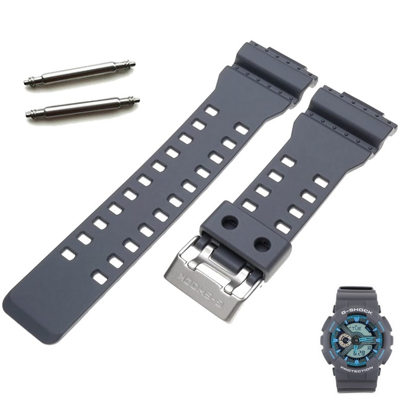 Pulseira Casio G-shock GA-110TS-8A2 Cinza + Par de pinos Originais   - E-Presentes