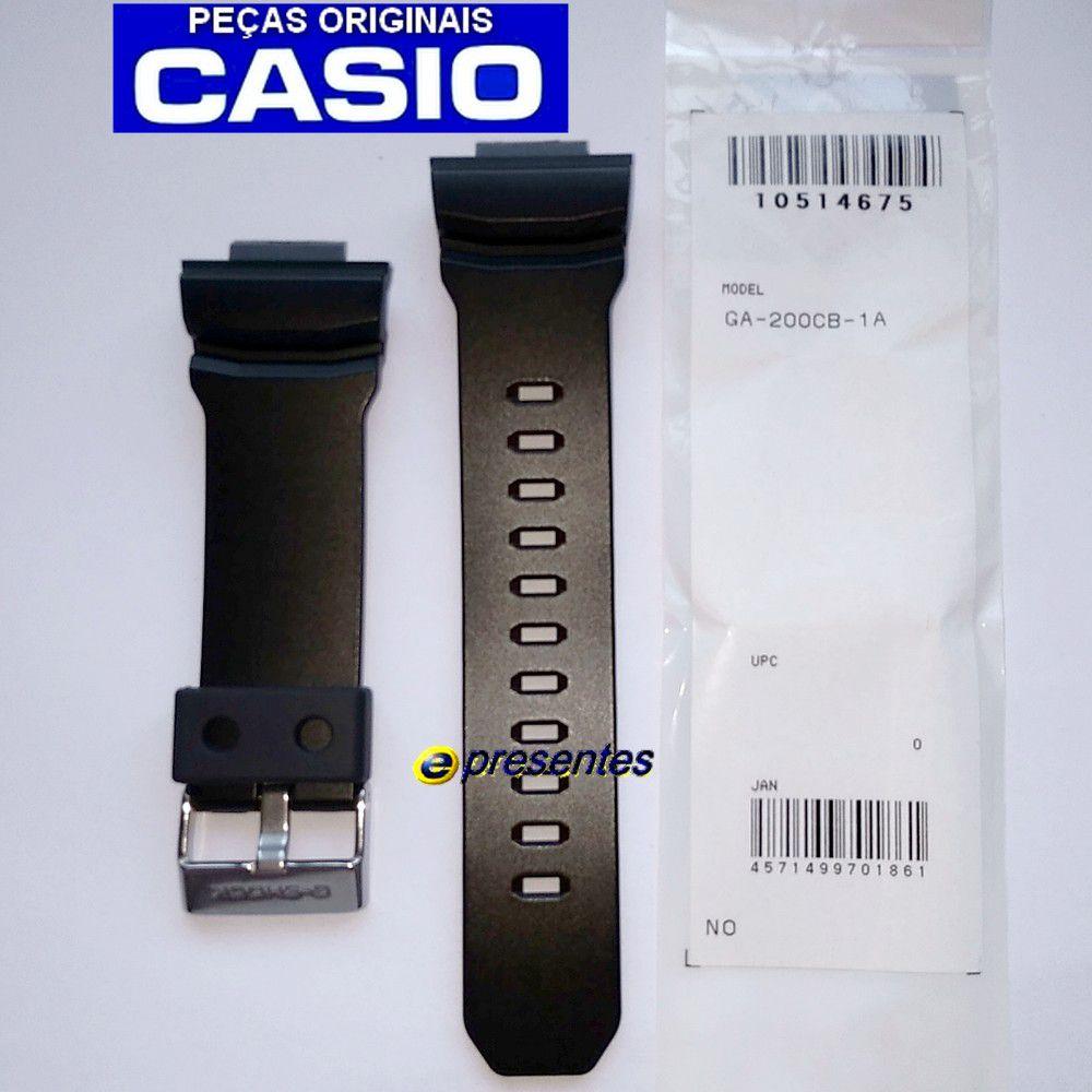 Pulseira Casio G-shock Ga-200CB-1A SEMI BRILHANTE - 100% Original  - E-Presentes