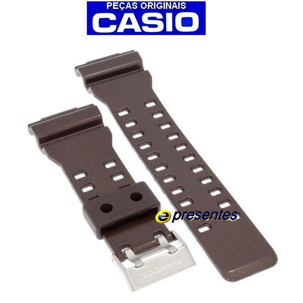 Pulseira Casio G-shock GA-300a-5a Marrom Brilhante - 100% Original  - E-Presentes