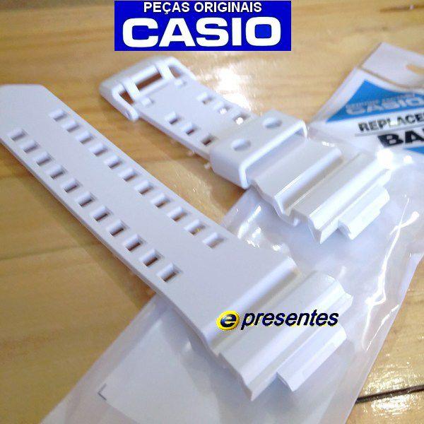 Pulseira Casio G-shock GA-400-7A Branco Brilhante  -100% Original    - E-Presentes