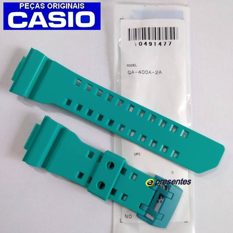 Pulseira Casio G-shock GA-400A-2A Verde Esmeralda  - E-Presentes