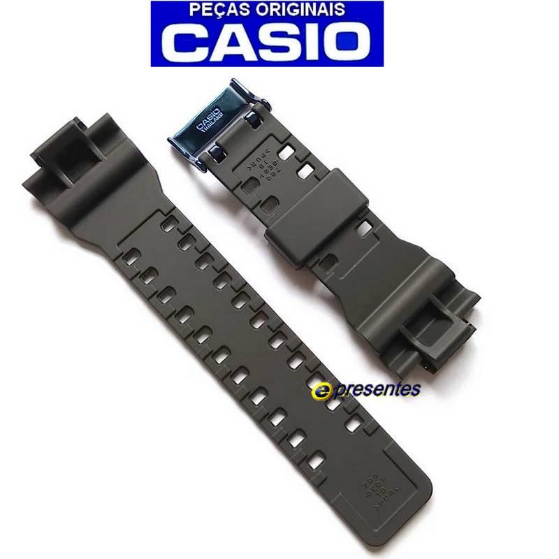 Pulseira Casio G-shock GA-710B-1A2 Preto Fosco Fivela Inox Cor AZUL  - E-Presentes