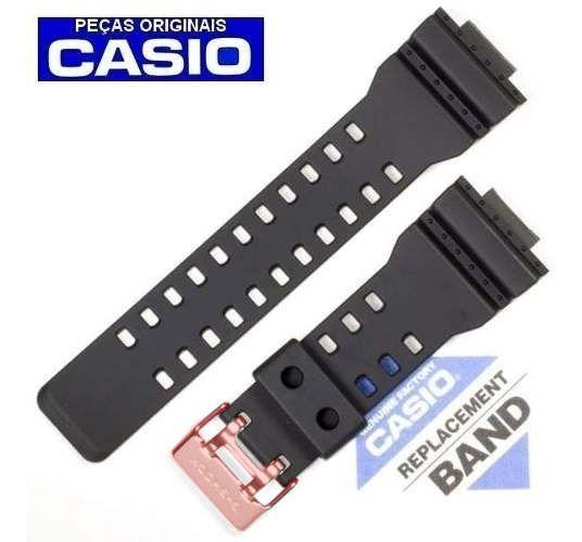 Pulseira Casio G-shock GA-710B-1A4 Preto Fosco Fivela Inox Cor Rosê  - E-Presentes