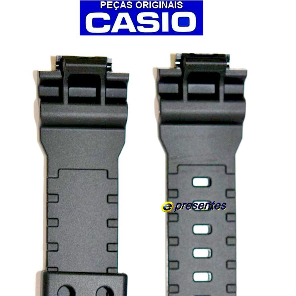 Pulseira Casio G-shock GA-800, GA-810 Resina Preta Fosco - 100% original   - E-Presentes