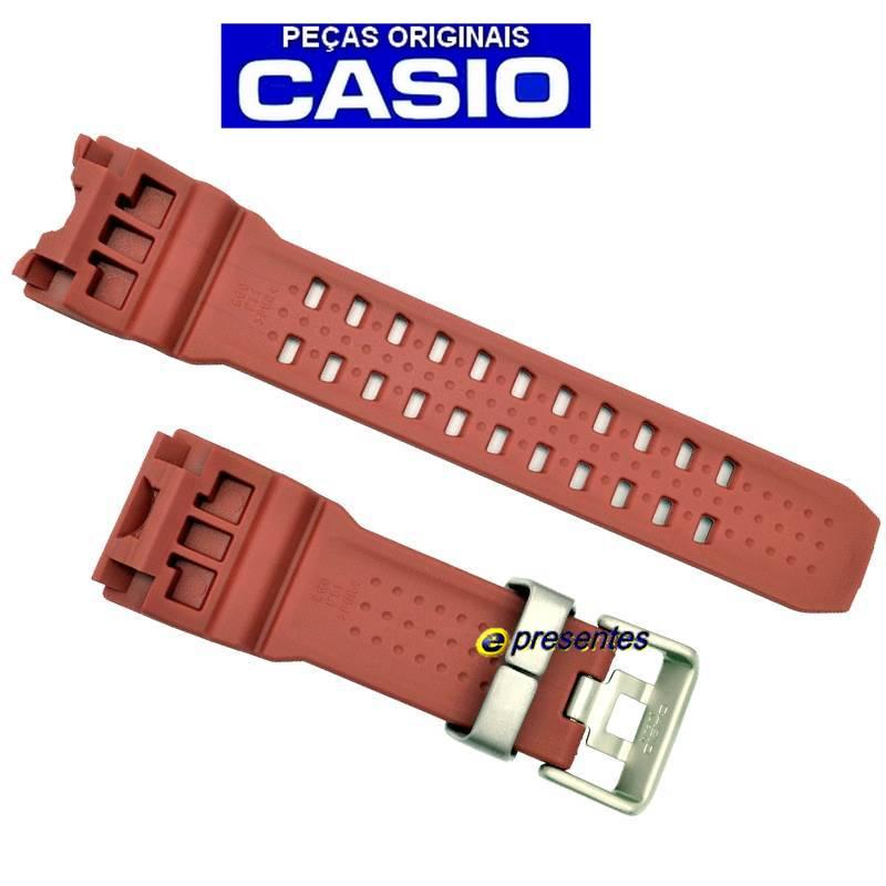 Pulseira Casio G-Shock GWG-1000GB-4A Mudmaster Resina Vermelho *  - E-Presentes