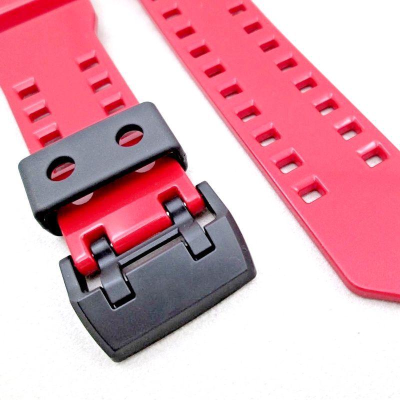 Pulseira Casio G-shock G-Mix GBA-400-4A Vermelho Brilhante Verniz *  - E-Presentes