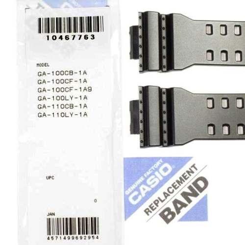 Pulseira Casio G-shock + Par de Pinos Ga-100CB GA-100CF-1a GA-100cf-1a9 GA-100LY GA-110CB GA-110LY GLS-8900-1 Preto Semi Brilhante   - E-Presentes