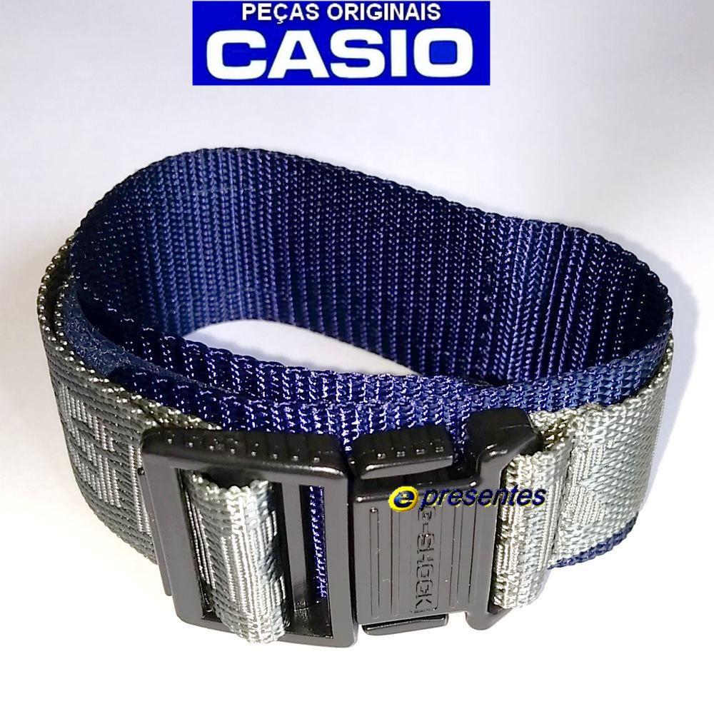 Pulseira Casio G-shock Tecido e Velcro G-2110-8V - 100% Original  - E-Presentes