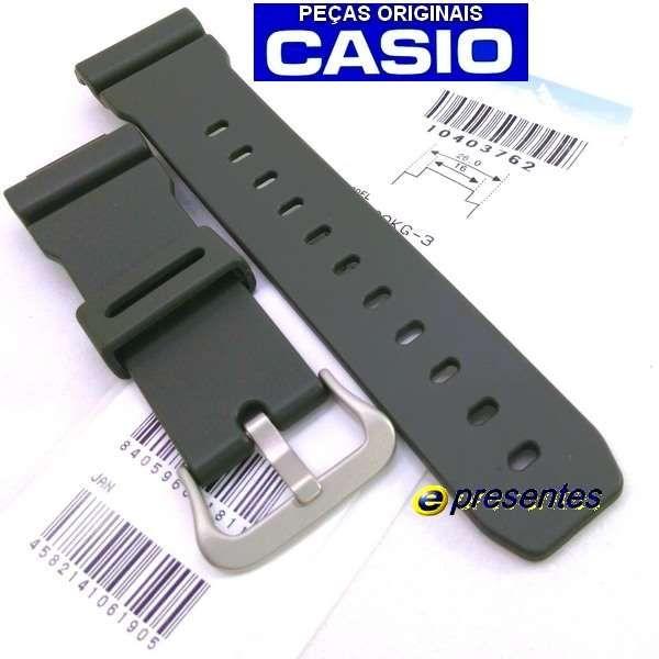 Pulseira Casio G-shock Verde G-5600 G-6900 Gw-m5610 Original  - E-Presentes