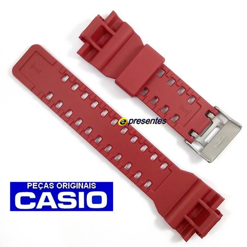 Pulseira Casio GA-100CM-4A GD-120CM-4 G-shock Camuflado Vermelho   - E-Presentes