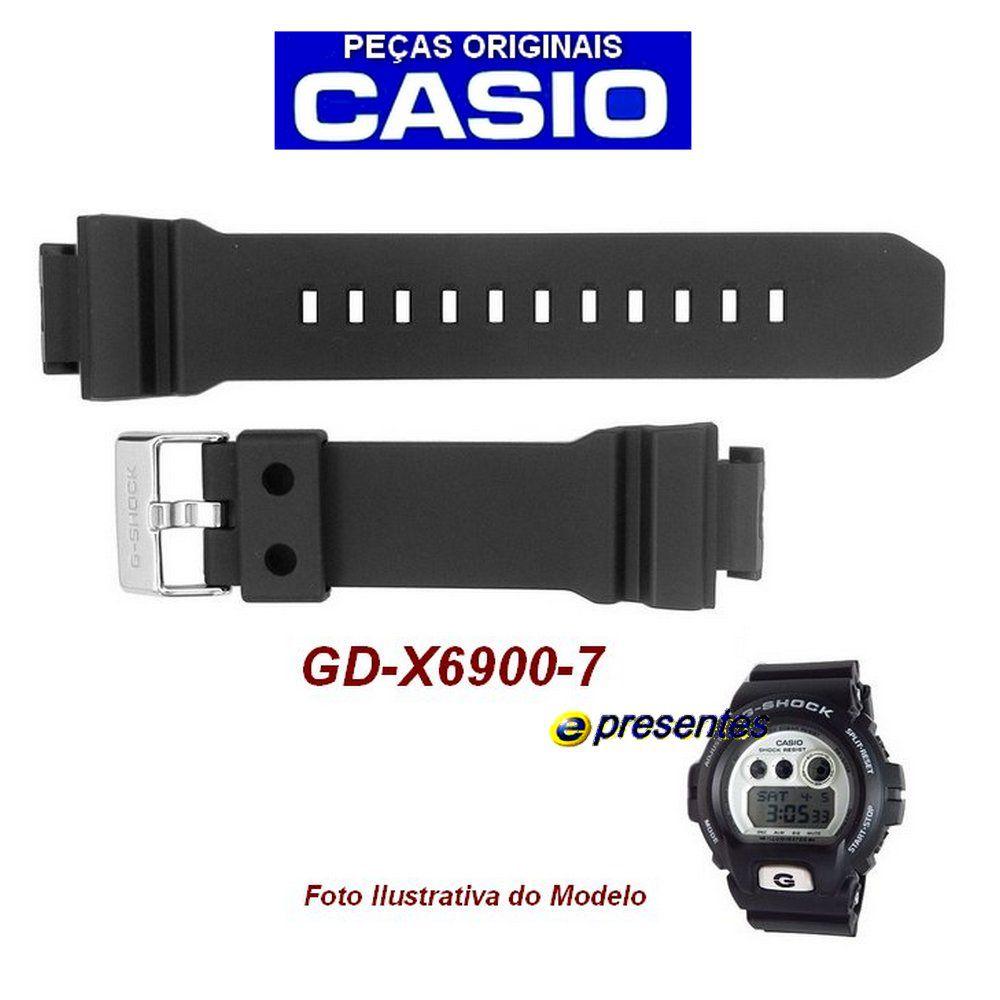 Pulseira Casio GD-X6900-7 G-shock Preto Fosco - Peça Original *  - E-Presentes
