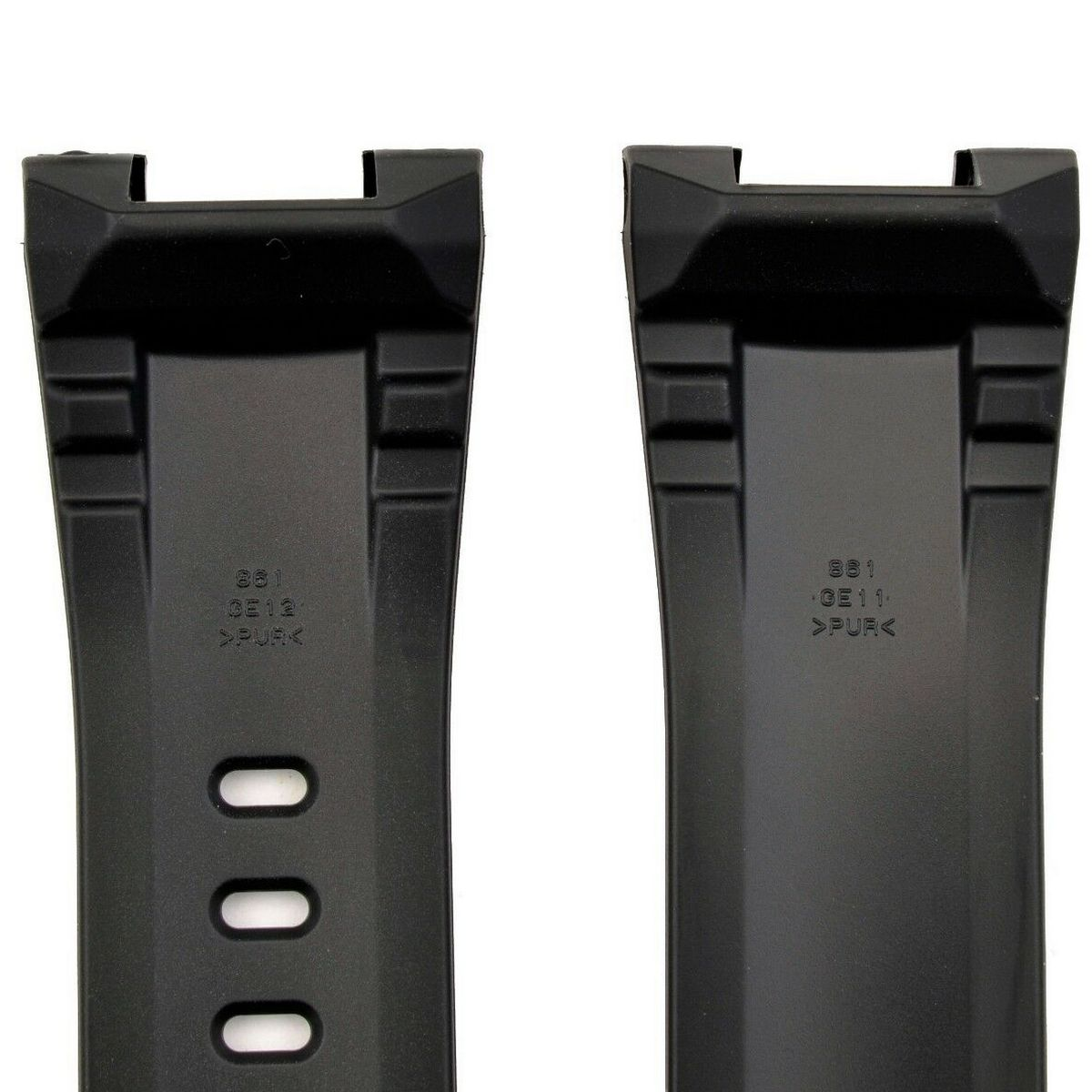 Pulseira Casio GST-400 GST-410 GST-210B GST-W100G GST-S100G  Resina  Preta  - E-Presentes