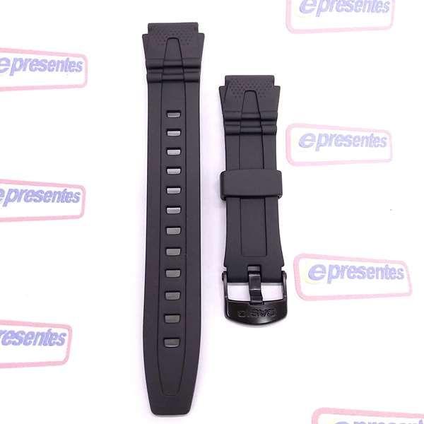 Pulseira Casio HDD-600 RESINA PRETA 18MM - 100% autentica  - E-Presentes