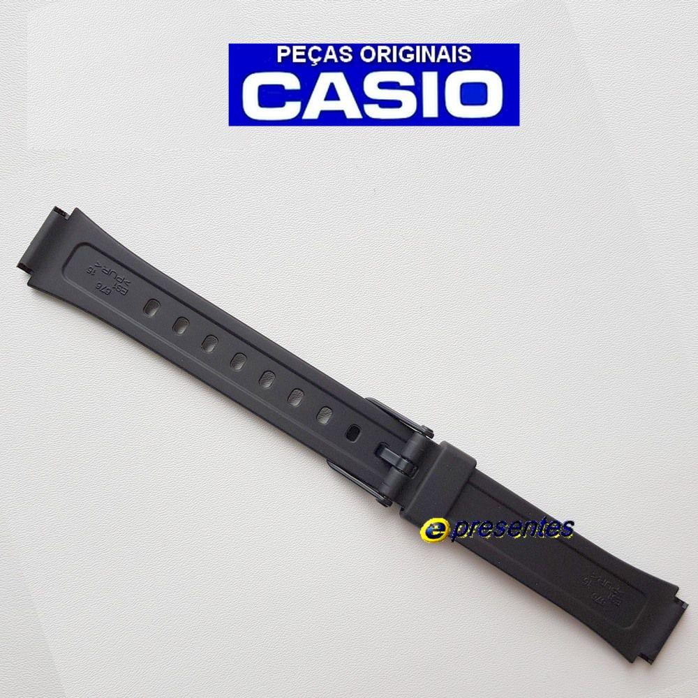 Pulseira Casio LW-201Resina Preta 100% Original    - E-Presentes