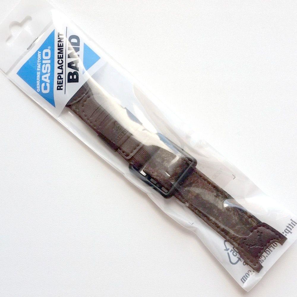 Pulseira Casio PAS-410B-5V Nylon/Couro Velcro Marrom 100% Original   - E-Presentes