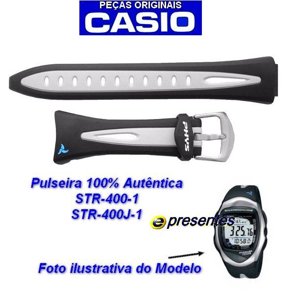 Pulseira Casio Phys STR-400-1V / STR -400J-1- peça 100% Original  - Alexandre Venturini