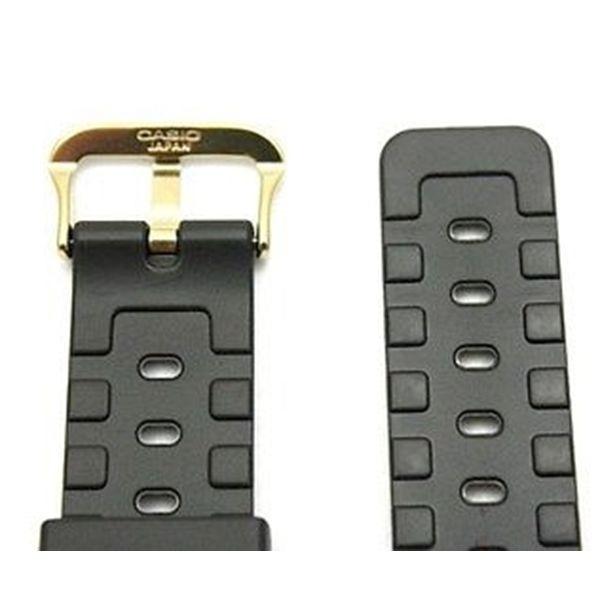 Pulseira Casio Preta Fivela Dourada (25mm/ 20mm)  Varios Modelos  - E-Presentes