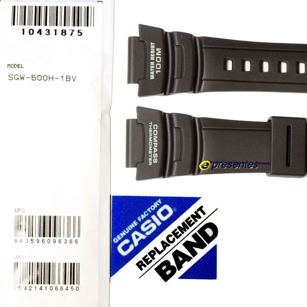 Pulseira Casio Preta SGW-500H-1BV- 100% Original   - E-Presentes
