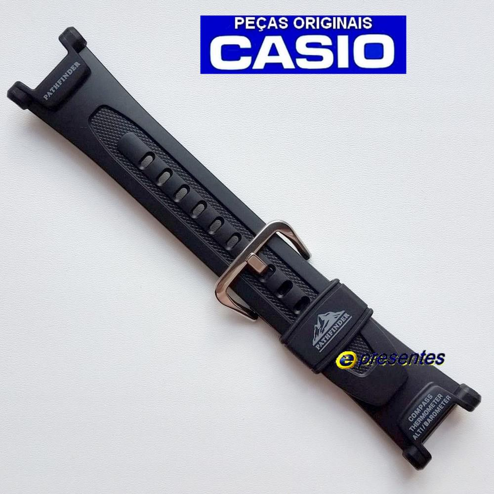 Pulseira Casio Protrek PAG-240. PAG-40 Resina Preta *  - E-Presentes