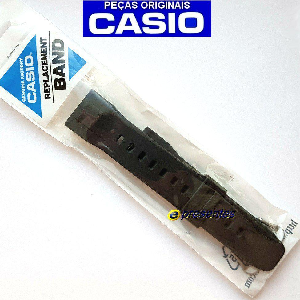 Pulseira Casio Protrek PRG-600-1, PRG-600Y-1 Resina Preta (24mm)   - E-Presentes