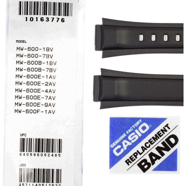 Pulseira Casio Resina Preta MW-600 - 100% Original  - E-Presentes