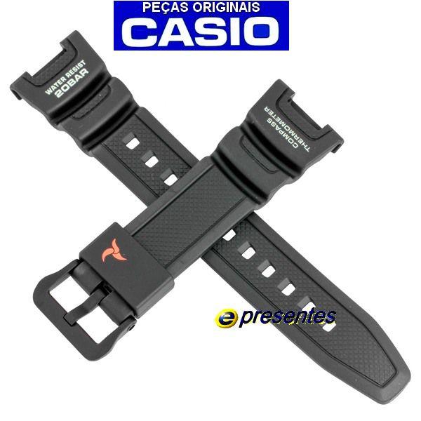 Pulseira Casio  SGW-100-2B Resina Preta - 100% Original  - E-Presentes