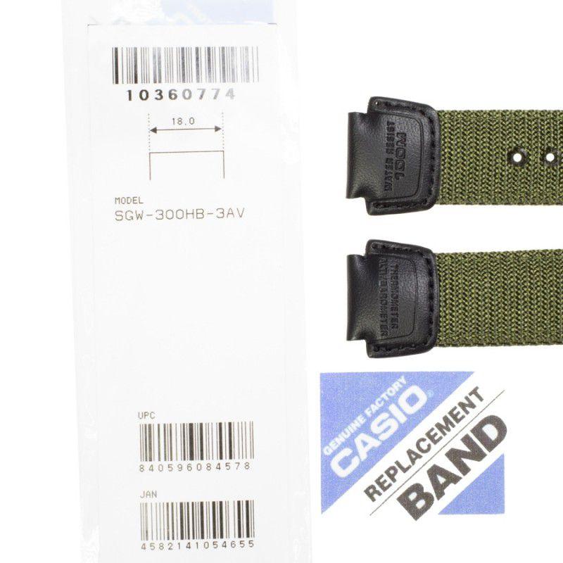 Pulseira Casio  SGW-300HB-3AV TEcido e Couro (18mm)  - E-Presentes