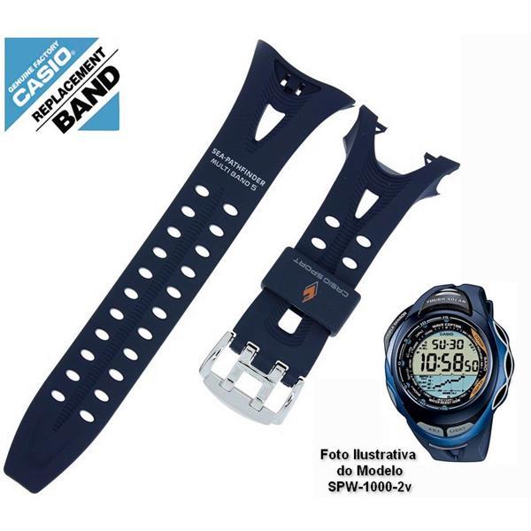 Pulseira Casio Resina Azul SPW-1000-2V - PEÇA ORIGINAL  - E-Presentes