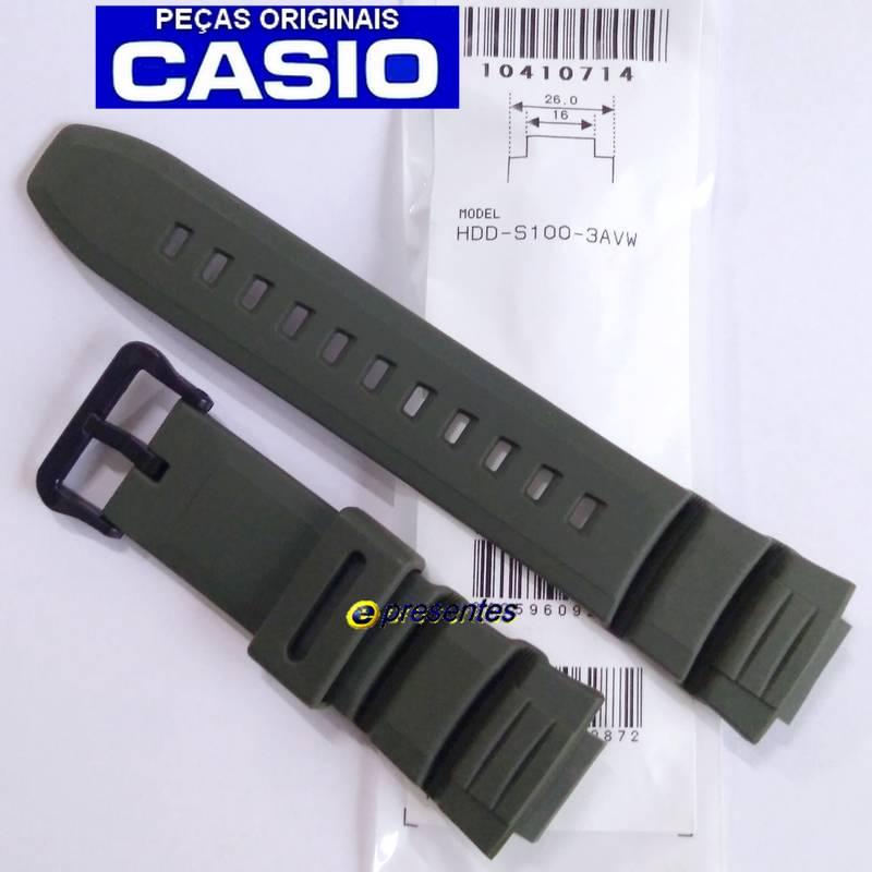 Pulseira Casio Verde HDD-S100-3av -100% autentica  - E-Presentes