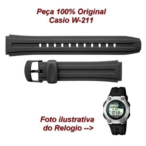 Pulseira Casio W-211 Resina Preta -100%original -   - E-Presentes