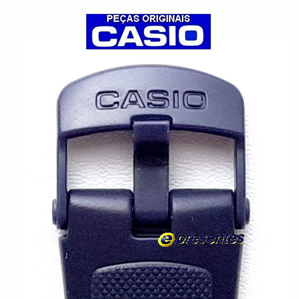 Pulseira Casio W-212h Resina Azul (23 / 18mm) - 100% Original  - E-Presentes