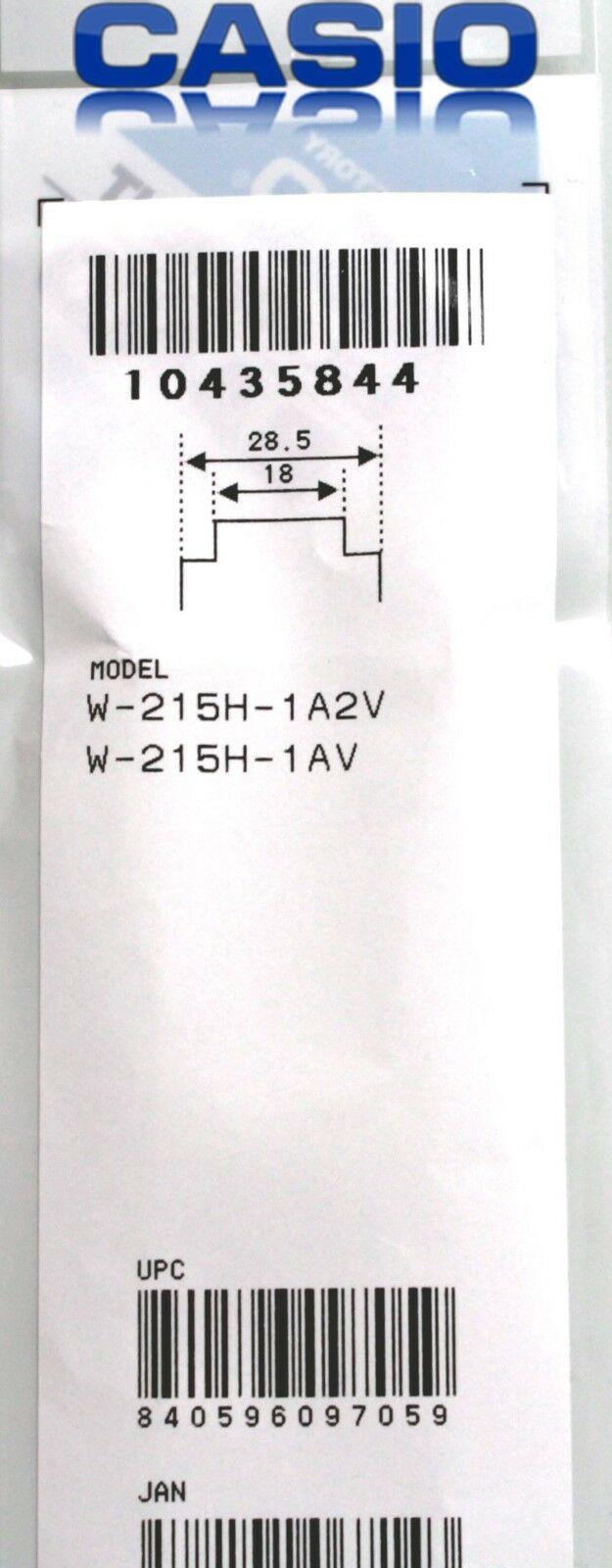 Pulseira Casio W-215H-1A2VW-215H-1AV   Preto VErniz  - E-Presentes