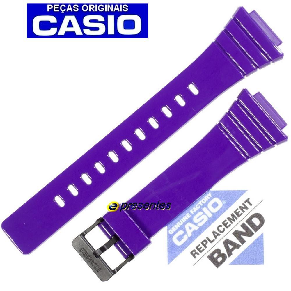 Pulseira Casio W-215H-6AV Cor Púrpura (roxo) - 100% Original   - E-Presentes