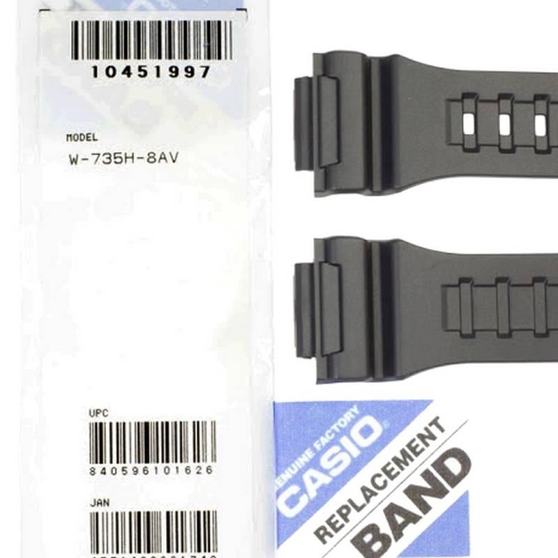 Pulseira Casio W-735H-8AV Resina Cinza  * 100% Original  - E-Presentes