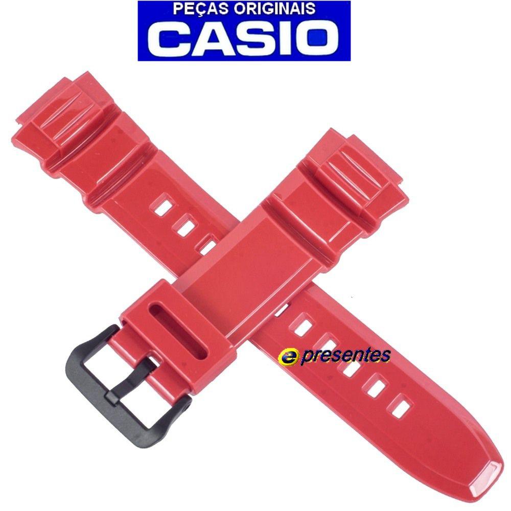 Pulseira Casio W-S220-4A Vermelha  -100% autentica  - E-Presentes