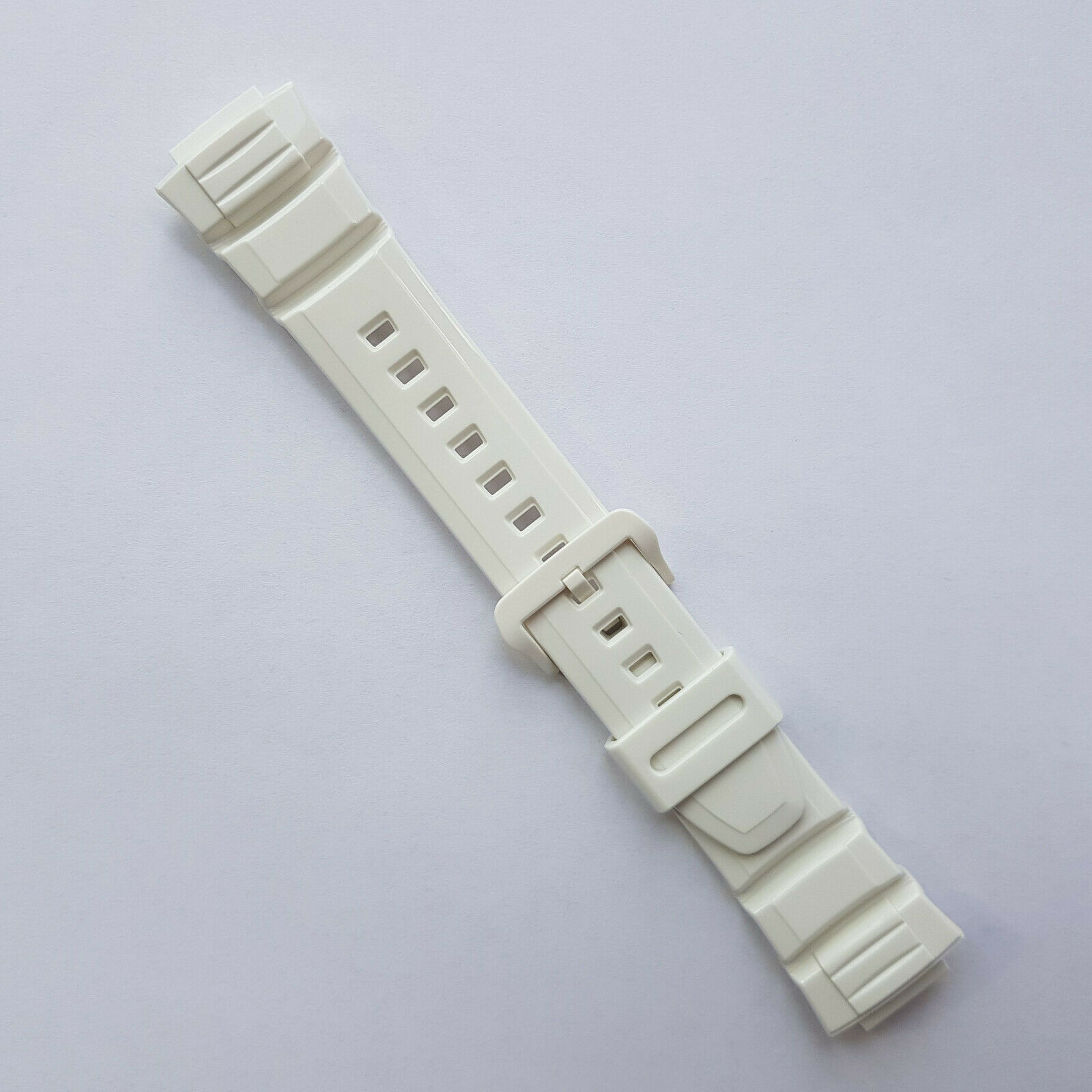 Pulseira Casio W-S220C-7Bv Resina Branca Verniz  - E-Presentes