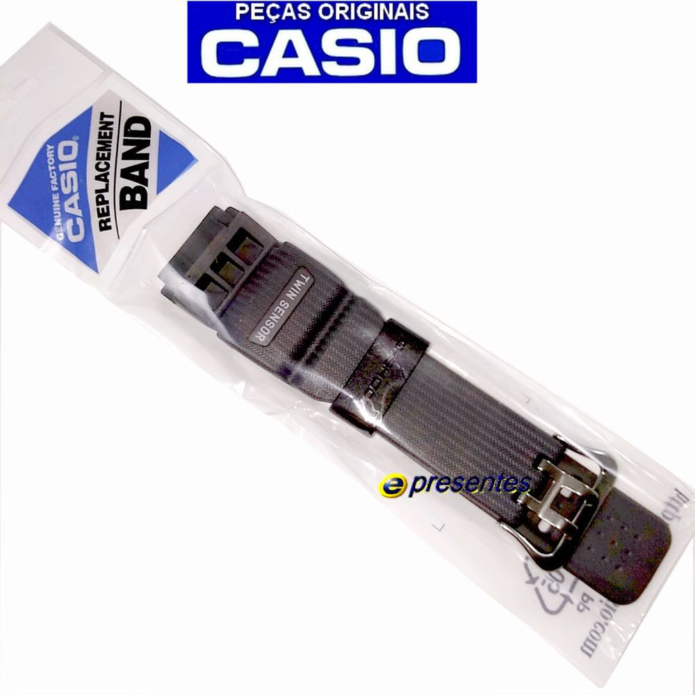 Pulseira Cinza Escuro + Bezel Preto fosco GG-1000-1A8 Casio G-shock Mudmaster  - E-Presentes