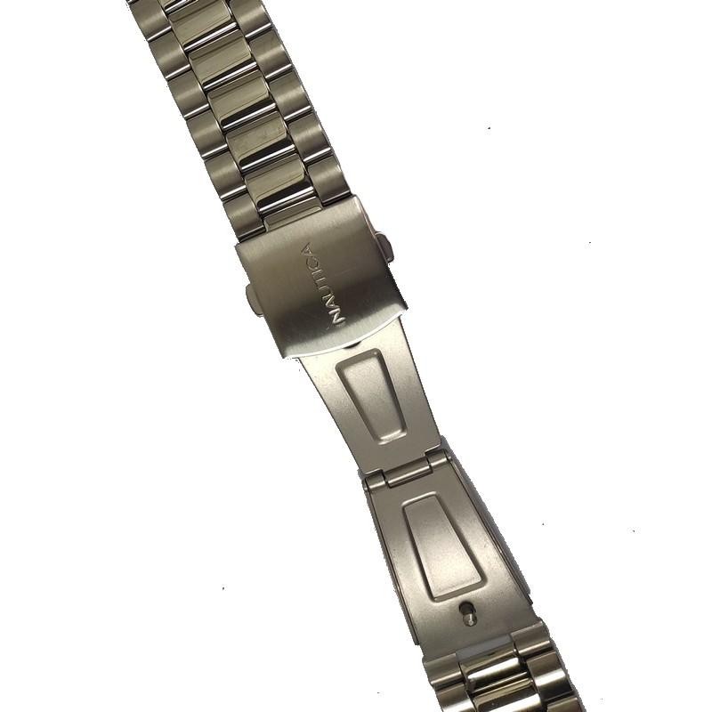 Pulseira De Aço 10mm Interno 22mm Externo Náutica 95028-2  - E-Presentes